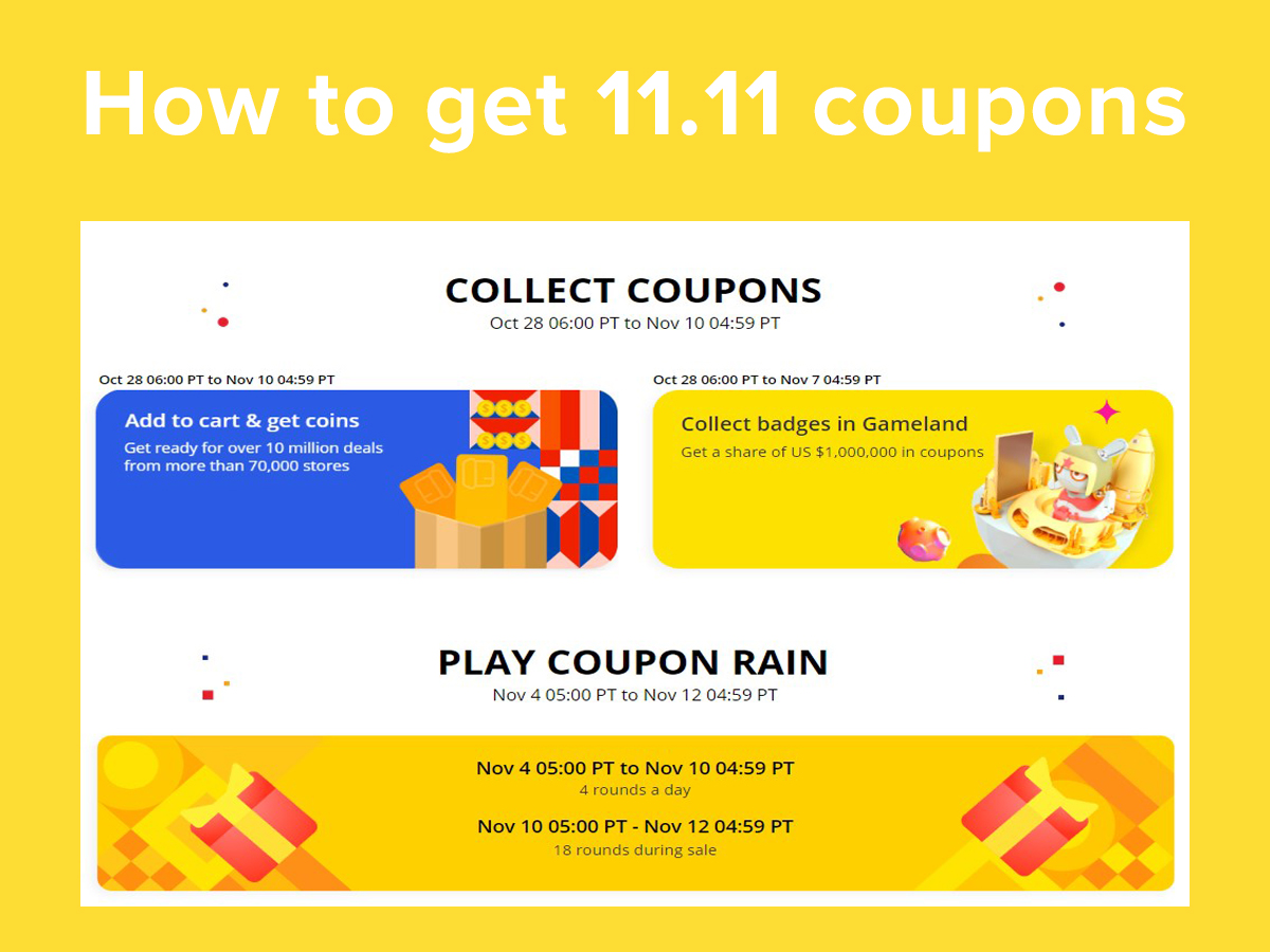 Types of Coupons on AliExpress 11.11 Sale
