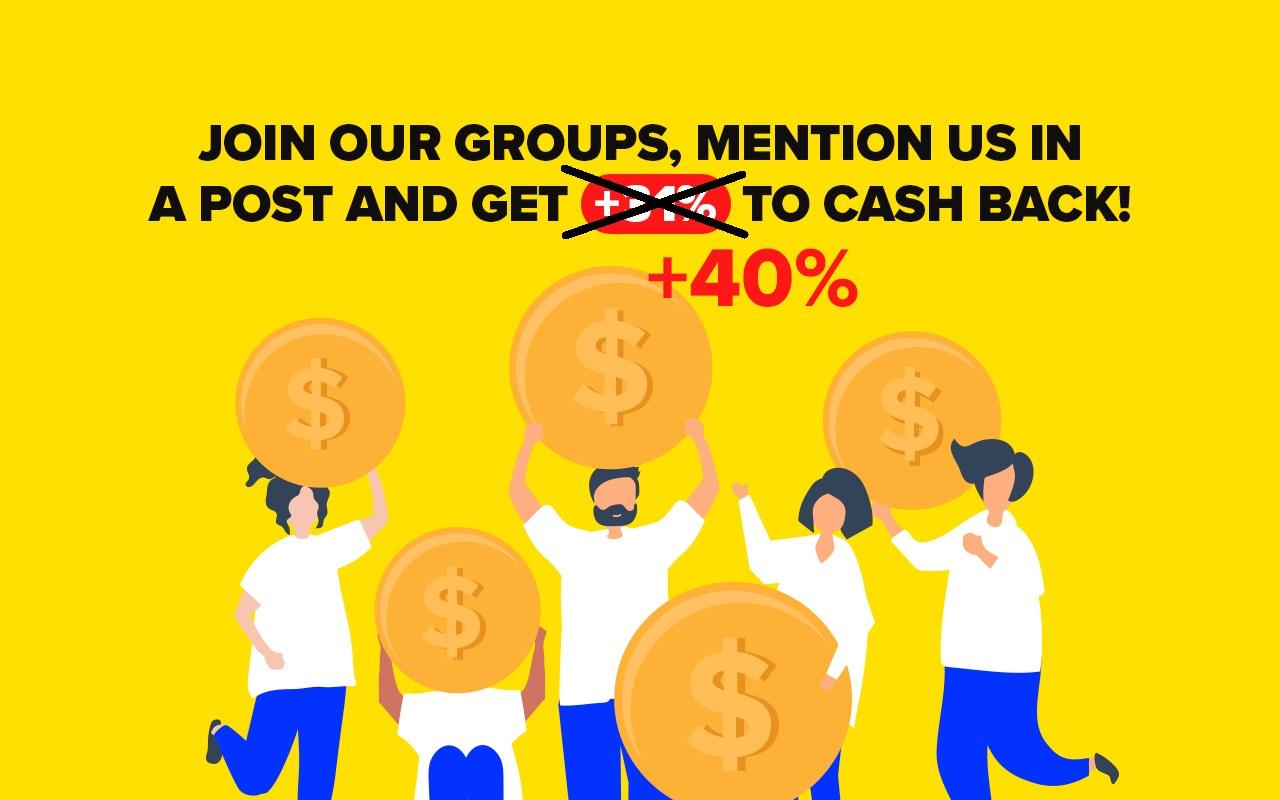 Get Megabonus Promo Code for 6th Level of Cash Back!