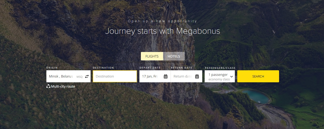 Meet Megabonus Travel: Book Flights and Rooms Online