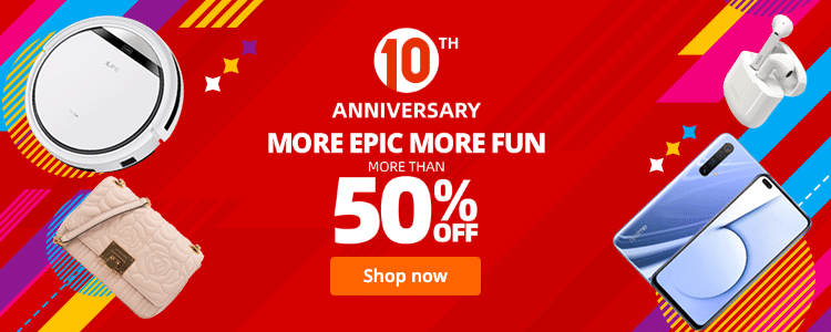 AliExpress Birthday Sale 2020: 10th Anniversary